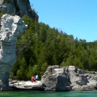 The big flowerpot on Flowerpot Island, near Tobermory