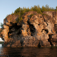 The cliffs at Indian Head Cove